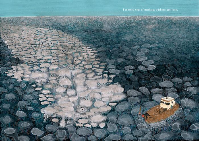 mar-Ahab-y-la-Ballena-Blanca-medusas-Manuel Marsol