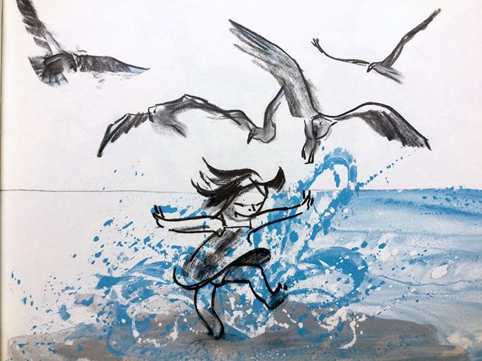 La trilogía del limite-Suzy Lee-la ola-detalle