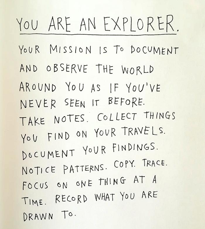 keri smith-you are an explorer