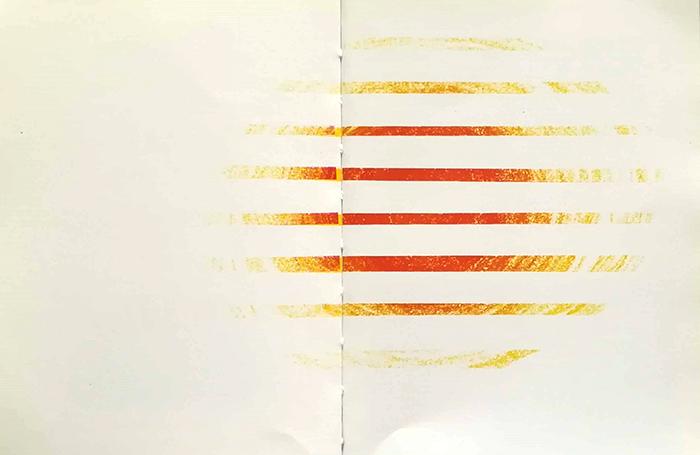 dibujar el sol-Bruno Munari-atardecer persianas