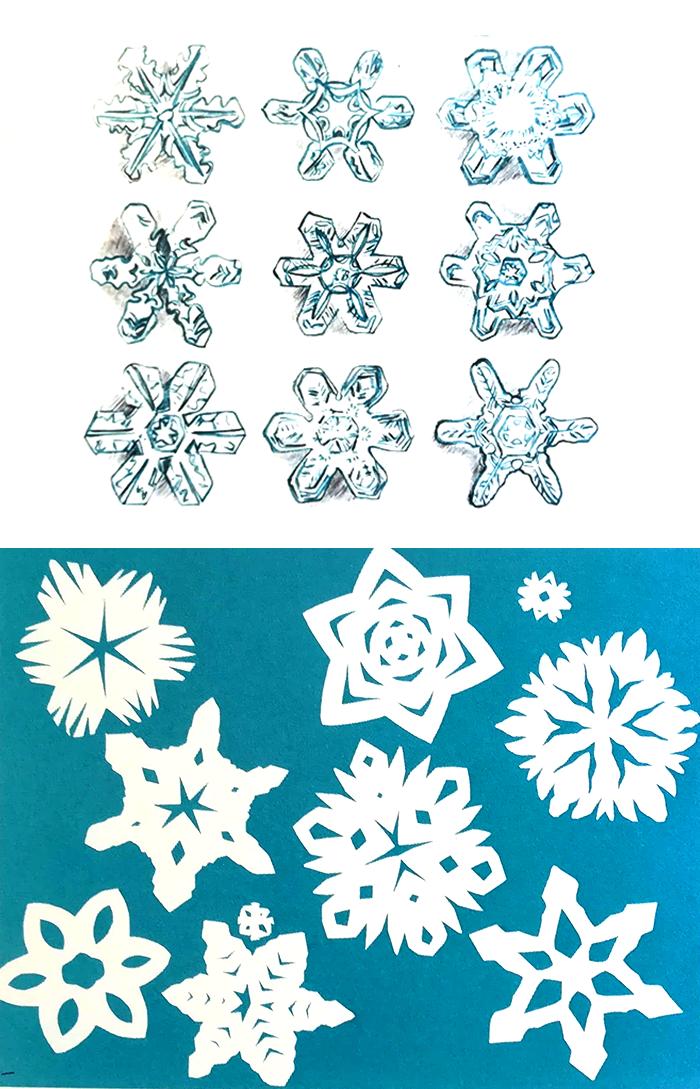 pintar el agua-copos de nieve-metta gislon