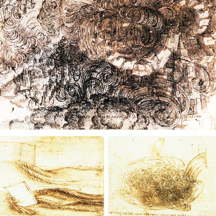 pintar el agua-estudios de agua-Leonardo Da Vinci