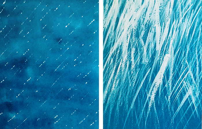 pintar el agua-lluvias-metta gislon