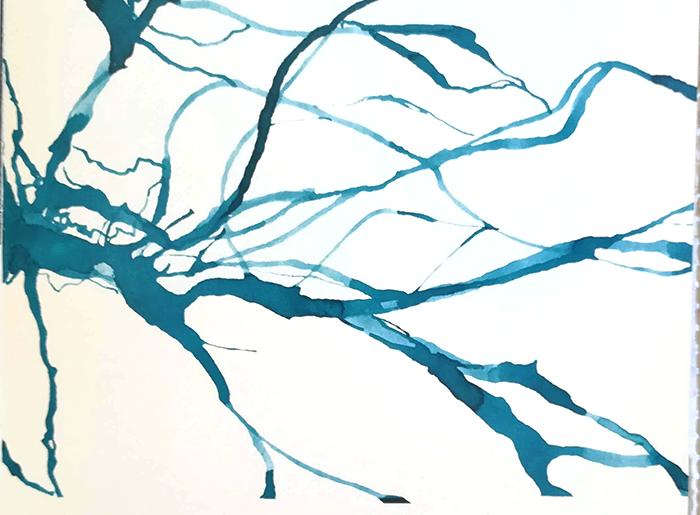 pintar el agua-rio