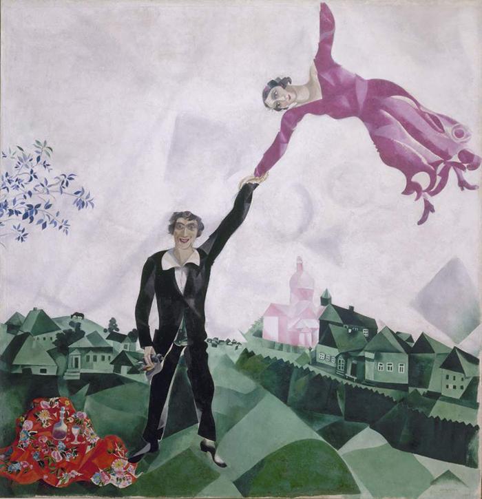 vuelo-Marc Chagall-la promenade