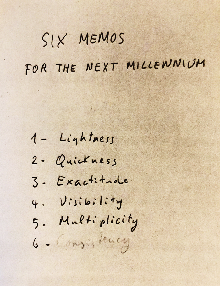 Italo Calvino-six memos for the next millennium