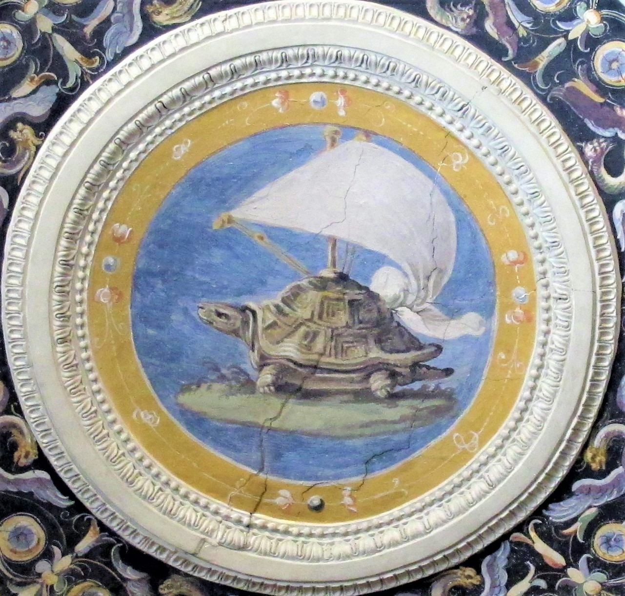 Parte del fresco de Lorenzo Sabatini Fsetina Lente