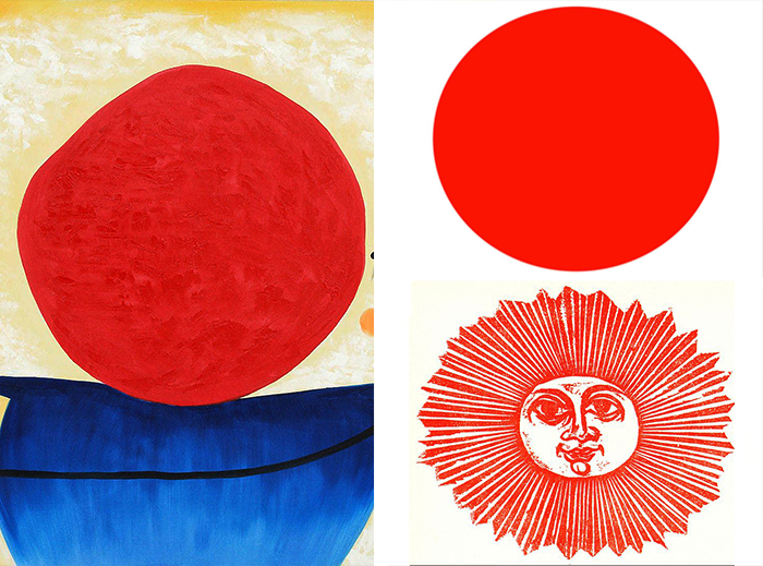 dibujar el sol-miro-japan flag-frasconi
