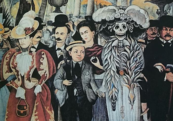 Diego Rivera-tarde en la alameda