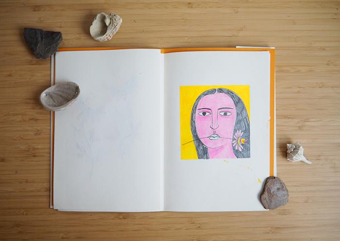 curso cisneros-sketchbook-mujer con flor
